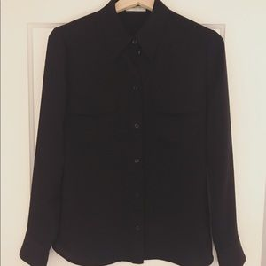 Black blouse from Aritzia